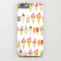 Watercolour Ice Cream iPhone 6 Slim Case