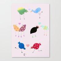Birds in love Canvas Print