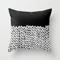 Half Knit Throw Pillow