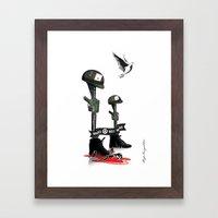 War Peace Framed Art Print