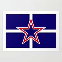 Southern Cross Flag  Art Print
