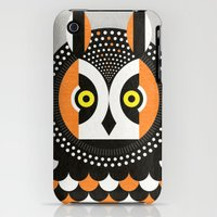iPhone 3Gs & iPhone 3G Cases featuring Long-Eared Owl by Scott Partridge