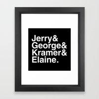 Seinfeld Jetset Framed Art Print