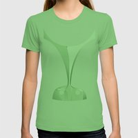 Silhouette Racers - Pors… Womens Fitted Tee Grass SMALL