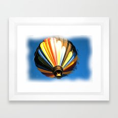 Up , Up and a away in my Beautiful Balloon . Framed Art Print