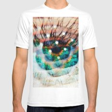 Green Eyes Hypnotize  Mens Fitted Tee SMALL White