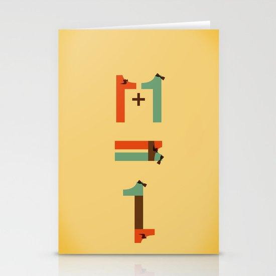 1 plus 1 Stationery Card