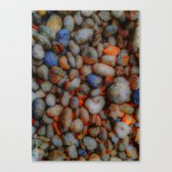 Canvas Print featuring Glowing Pebbles by Mimulux