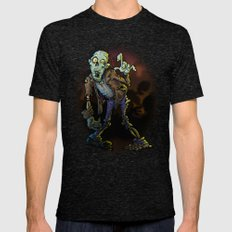 ZOMBIE! Mens Fitted Tee Tri-Black SMALL