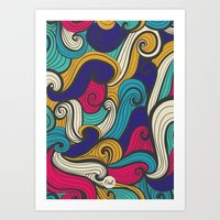 out waves Art Print