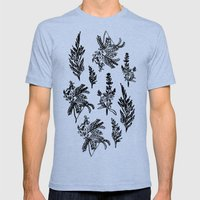 fleur noir Mens Fitted Tee Tri-Blue SMALL