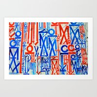 Abstract Urban Mural Art Print