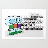 D-boys Art Print