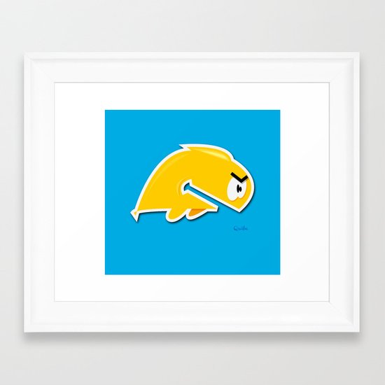 Angry Phish Framed Art Print