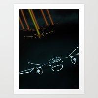TRON LIGHT JET Art Print
