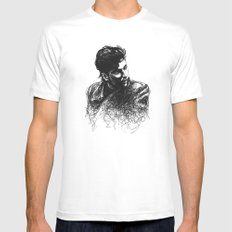 Alan SMALL White Mens Fitted Tee