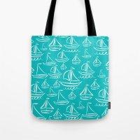 Sail Away Turquoise  Tote Bag