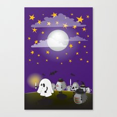 Halloween Hedgehogs Part… Canvas Print