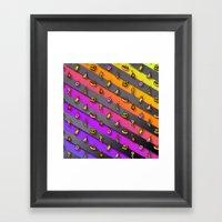 Lil Food Rain Framed Art Print