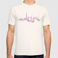 Watercolor Landscape Ill… Mens Fitted Tee Natural SMALL