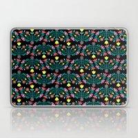 Folk Flowers Black Laptop & iPad Skin