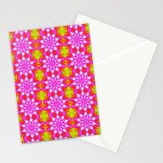 Flower Power Pattern Stationery Cards