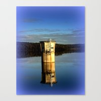 Reflections of a water Tower Canvas Print