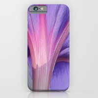 Macro of a Pale Liliac and Pink Morning Glory iPhone 6 Slim Case