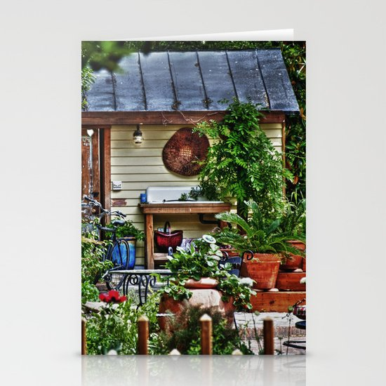 New Bern Garden Shed Stationery Card