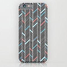Herringbone Black and Blue #2 Slim Case iPhone 6s