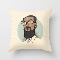 Portrait of Abraham Throw Pillow