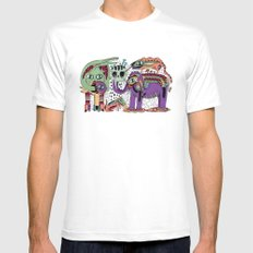 Zoo SMALL White Mens Fitted Tee