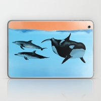 Orca and Dolphin Laptop & iPad Skin