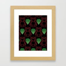 Emeralds & Demons [BLACK] Framed Art Print