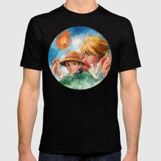 Sophie and Howl from Howl's Moving Castle Tra-Digital Painting Mens Fitted Tee Black SMALL