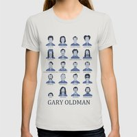 Gary Oldman Womens Fitted Tee Silver SMALL