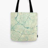Austin Map Blue Vintage Tote Bag