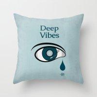 Deep Vibes Throw Pillow