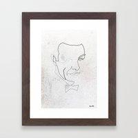 One line 007 (Sean Connery) Framed Art Print
