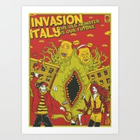 INVASION ITALY Art Print