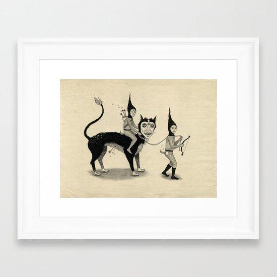 The Capture of the Beast Framed Art Print
