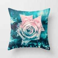 Queen Rose Throw Pillow