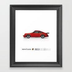 Porsche 1987 Carrera 3.2 India Red Marek Dzik Framed Art Print