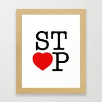 Stop In The Name of Love #2 t-shirt canvas print Framed Art Print