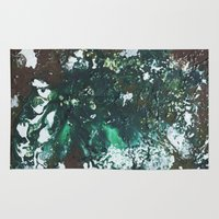 Green abstract liquidity. Rug