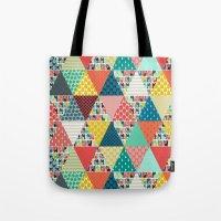 Llama Geo Triangles Tote Bag