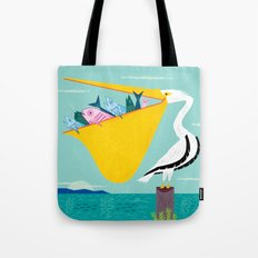 The Greedy Pelican Tote Bag