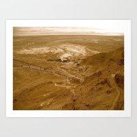 Sunset Desert Part II Art Print