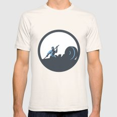 Rower Rowing Paddling Rowing Machine Circle Retro Mens Fitted Tee Natural SMALL