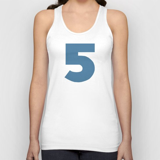 Number 5 Unisex Tank Top